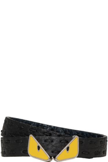 Fendi - Black Monster Double Tour Bracelet