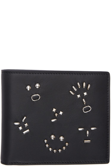 Fendi - Black Studded Bag Bugs Wallet