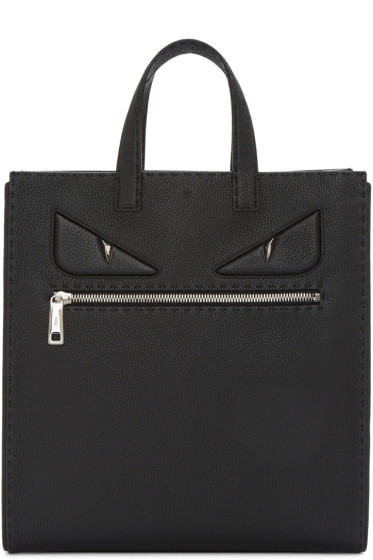 Fendi - Black Leather Monster Tote