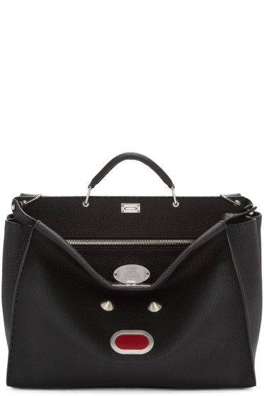 Fendi - Black Monster Peekaboo Tote