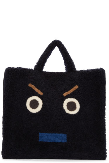 Fendi - Blue Shearling Monster Tote