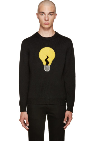 Fendi - Black Fur Lightbulb Sweater