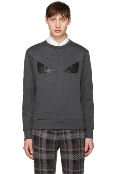 Fendi - Grey Bag Bug Pullover
