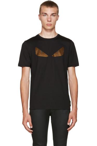 Fendi - Black Crystal Monster Eyes T-Shirt