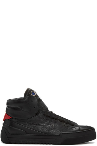 Fendi - Black Monster Tongue High-Top Sneakers