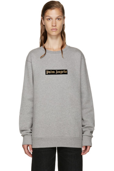 Palm Angels - Grey Logo Sweatshirt