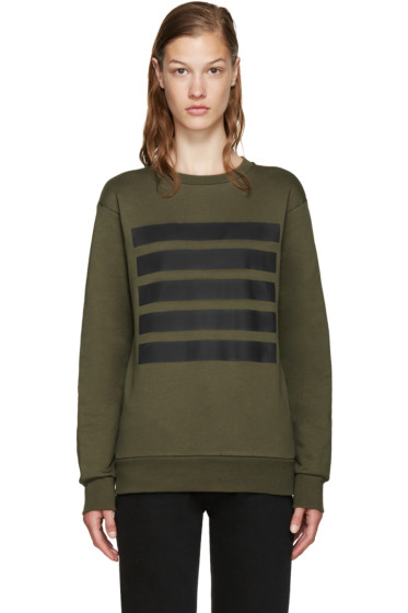 Palm Angels - Green 5 Stripes Sweatshirt