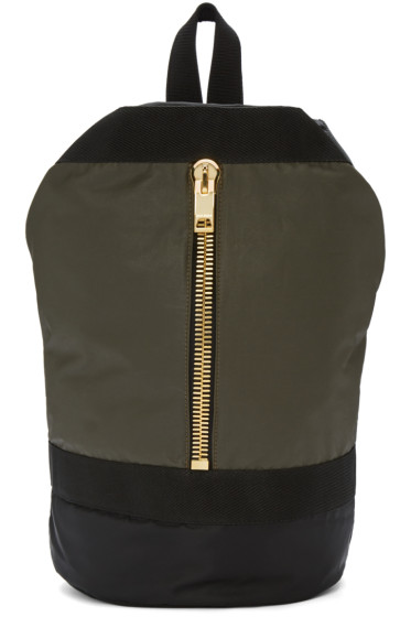 Palm Angels - Green Military Backpack