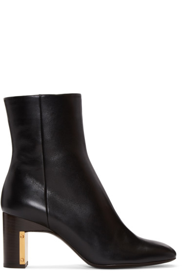 Rosetta Getty - Black Leather Ankle Boots