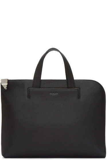 Wooyoungmi - Black Leather Briefcase