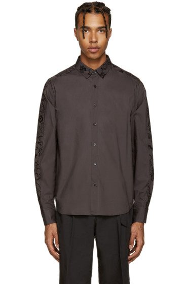 Wooyoungmi - Grey Embroidered Shirt