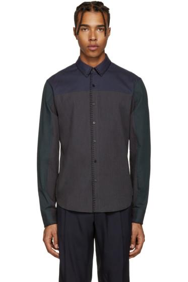 Wooyoungmi - Grey Blanket Stitch Shirt