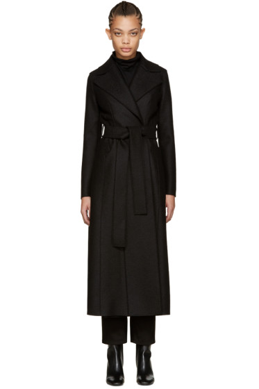 Harris Wharf London - Black Wool Long Duster Coat