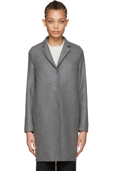 Harris Wharf London - Grey Wool Cocoon Coat