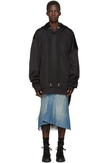 Marques Almeida - Black Oversized Hoodie