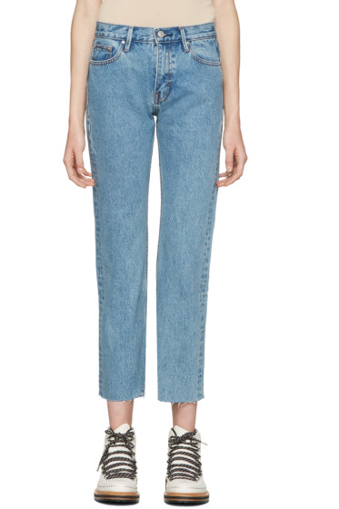 Earnest Sewn - Blue Melody Crop Flare Jeans