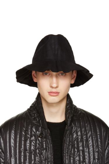 Issey Miyake Men - Black Pleated Bucket Hat