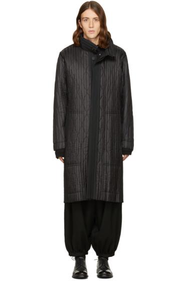 Homme Plissé Issey Miyake - Black Long Boxpleat Coat