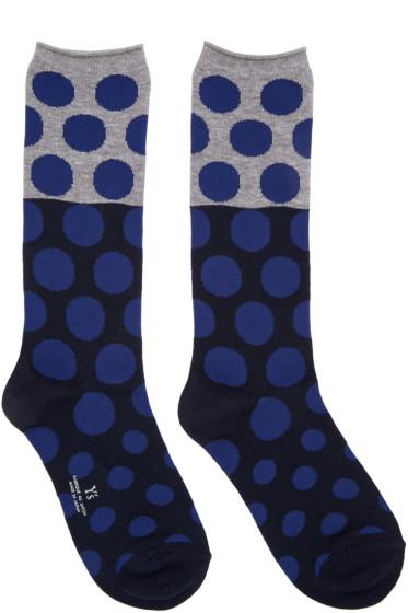Y's - Blue Dot Socks