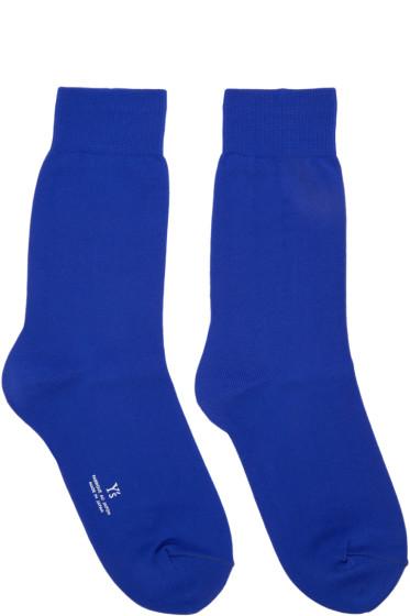 Y's - Blue Solid Socks