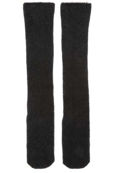 Isabel Benenato - Black Knit Merino Socks