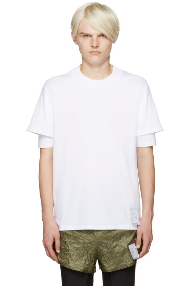 Satisfy - White Long Distance T-Shirt