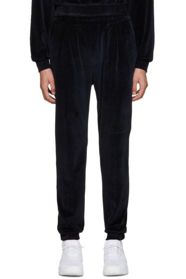 Sunnei - Navy Velour Lounge Pants