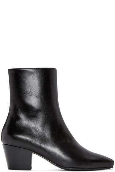Dorateymur - Black Droop Nose Boots