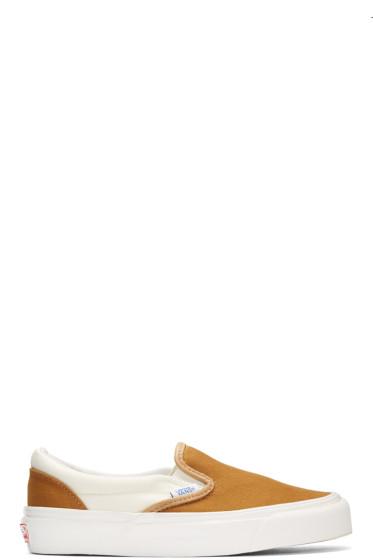 Vans - Brown OG Classic Slip-On Sneakers