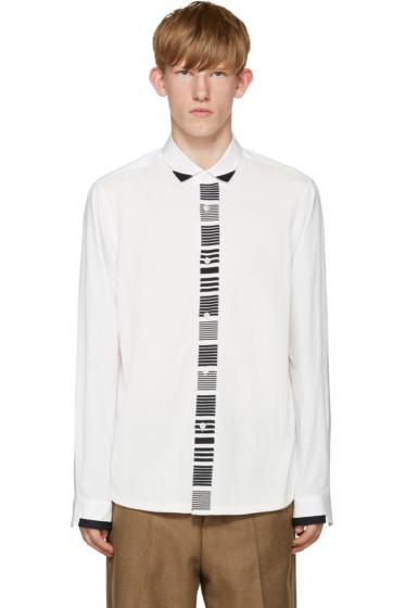 Tomorrowland - White Knit Panel Shirt