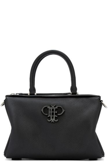 Emilio Pucci - Black Leather Logo Duffle Bag