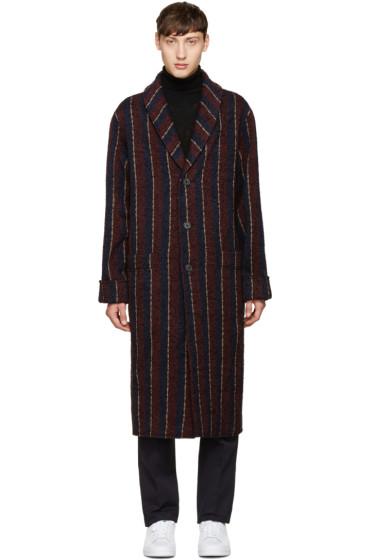 Éditions M.R  - Multicolor Long Striped Coat