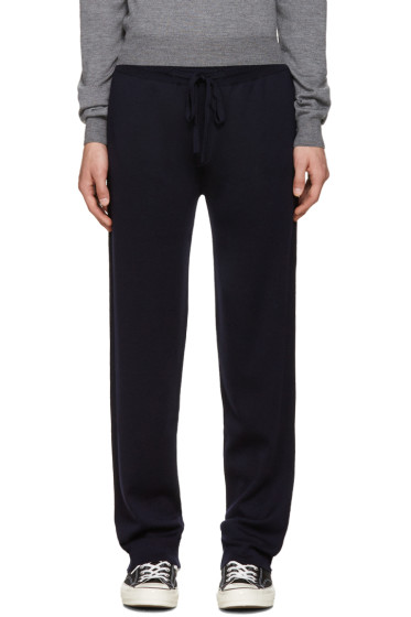 Éditions M.R  - Navy Merino Knit Lounge Pants