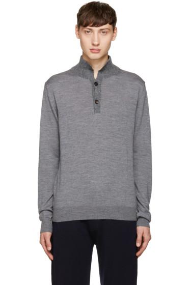Éditions M.R  - Grey Alpaca Collar Polo