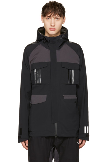 adidas x White Mountaineering - Black Shell Hooded Jacket