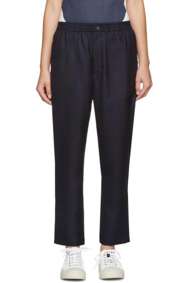 Blue Blue Japan - Navy Wool Trousers