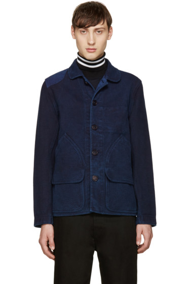 Blue Blue Japan - Blue Woven Coat
