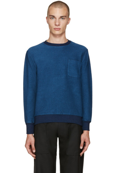Blue Blue Japan - Indigo Diagonal Pullover