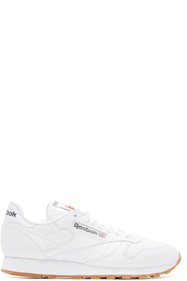 Reebok Classics - White Leather Classic Sneakers