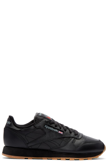 Reebok Classics - Black Leather Classic Sneakers