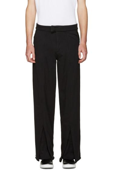 Telfar - Black Double Jersey Trousers