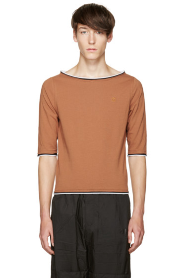 Telfar - Brown Boatneck T-Shirt