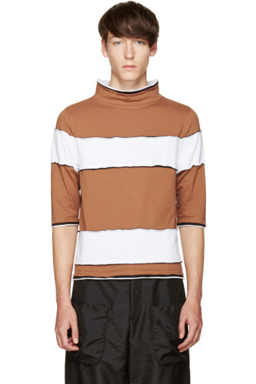 Telfar - Brown Striped T-Shirt