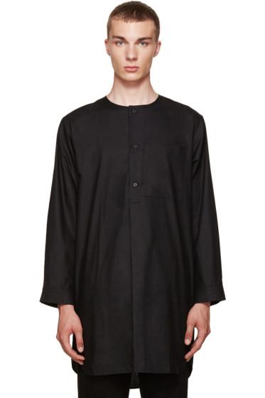 Phoebe English - Black Cotton Night Shirt
