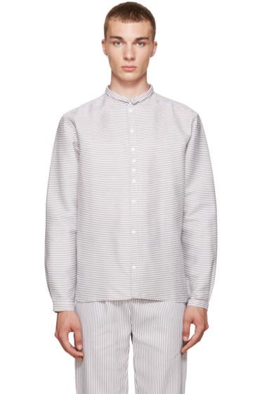 Phoebe English - Grey & White Striped Shirt