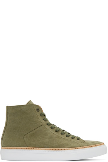 No.288 - Green Canvas Mulberry High-Top Sneakers