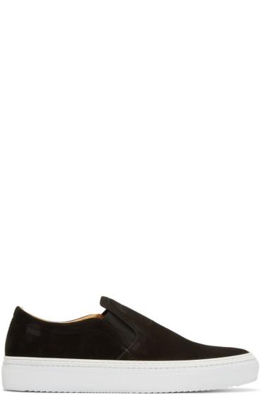 No.288 - Black Nubuck Houston Slip-On Sneakers