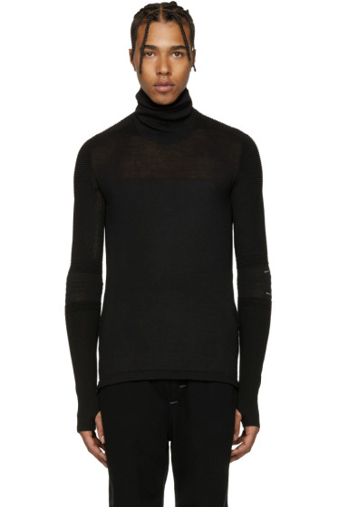 Y-3 SPORT - Black Tech Knit Turtleneck