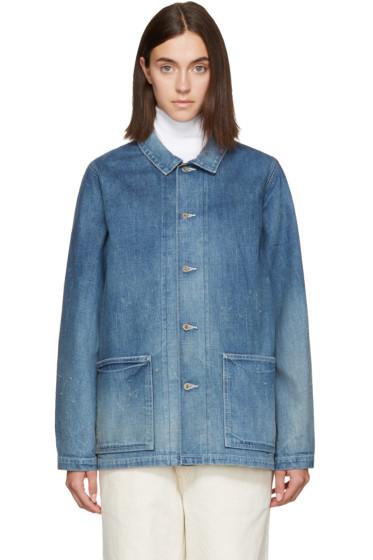 Chimala - Blue Distressed Denim Jacket