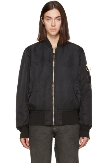 Alyx - Black Alpha Industries Edition Distressed Bomber Jacket
